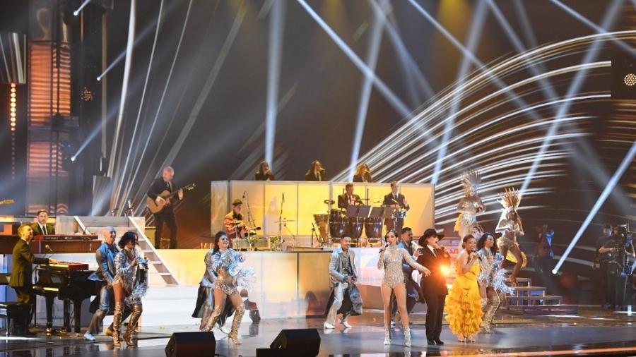 Anitta se apresentou na vigésima edição do Grammy Latino, em 2019 - Valerie Macon/AFP