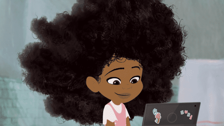 Cena da animação Hair Love, vencedora do Oscar de curta de animação - Reprodução