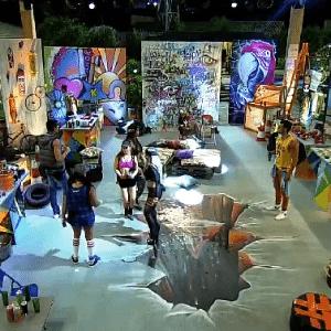 23.out.2015 - A decoração foi inspirada em arte urbana - Reprodução/Record