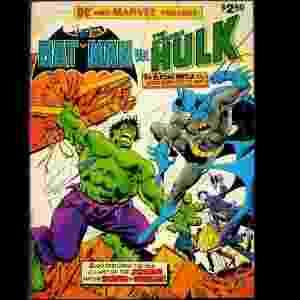 """Capa de """"Batman vs O Incrível Hulk"""" (Len Wein e José Luis García-López, 1981) - Reprodução"""