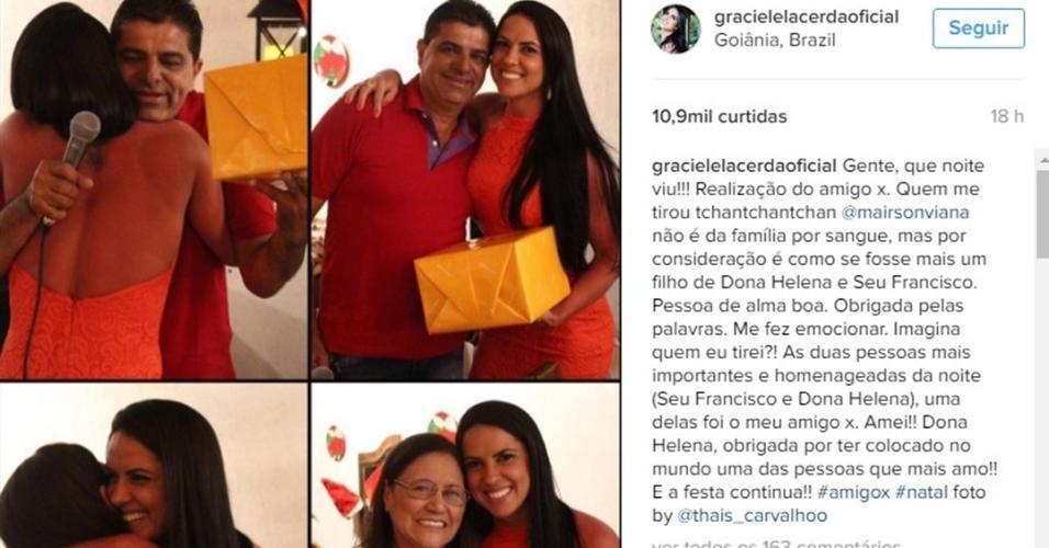 Graciele Lacerda conta que tirou a sogra, dona Helena, no amigo secreto da família de Zezé Di Camargo