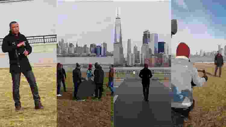 Alexandre Pires grava clipe em Nova York - Montagem - Montagem