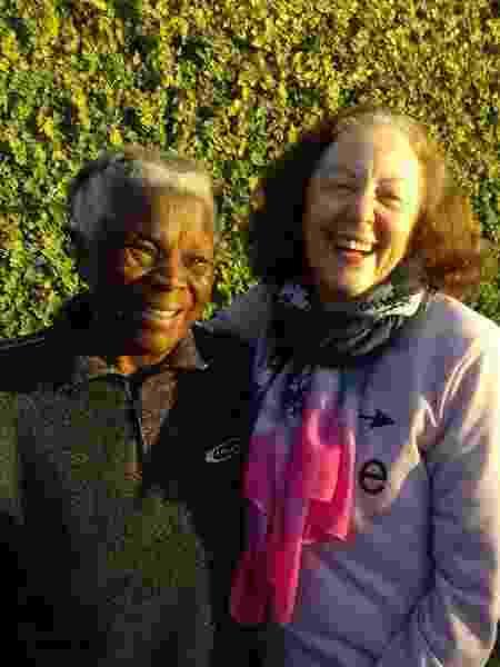 Diva e a amiga Maria Alice - Arquivo Pessoal - Arquivo Pessoal