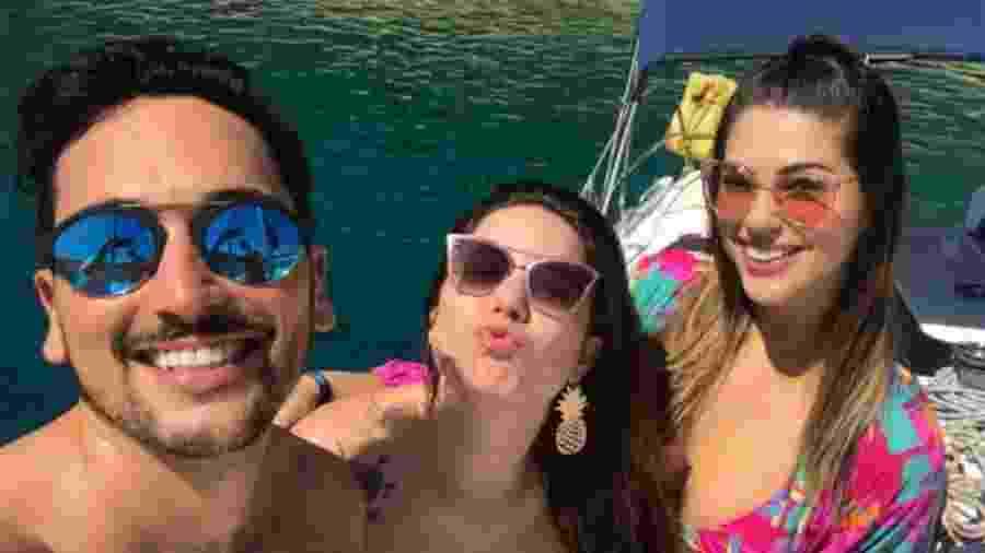 Lucas Estevam, Cacau e Vivian em passeio na Croácia - Reprodução/Instagram/amorimvivian