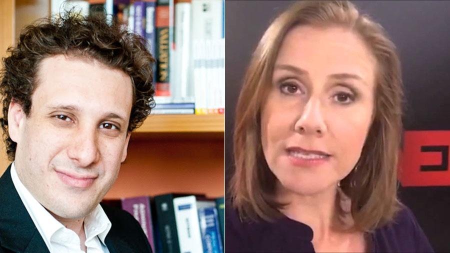 Samy Dana e Denise Barbosa, da Globonews - Divulgação