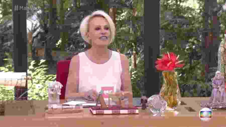 """Ana Maria Braga no """"Mais Você"""" - Reprodução/Globo"""