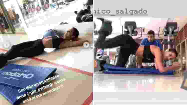 Bruna Marquezine exibe corpo magérrimo durante treino - Reprodução/Instagram - Reprodução/Instagram