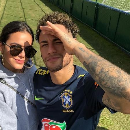 Bruna Marquezine e Neymar na Granja Comary - Reprodução/Instagram