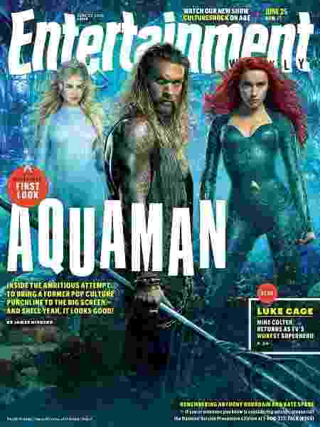 """Capa da revista Entertainment Weekly com atores de """"Aquaman"""" - Reprodução"""
