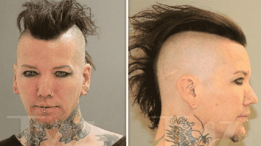 """O guitarrista DJ Ashba, ex-Guns N"""" Roses, que foi preso nos Estados Unidos - Reprodução/TMZ"""