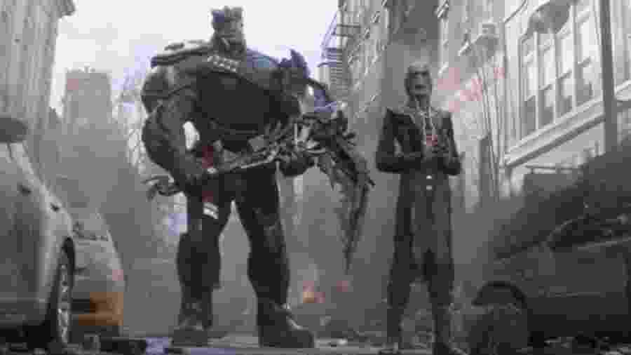 """Cull Obsidian e Fauce de Ébano em cena de """"Vingadores: Guerra Infinita"""" - Reprodução"""