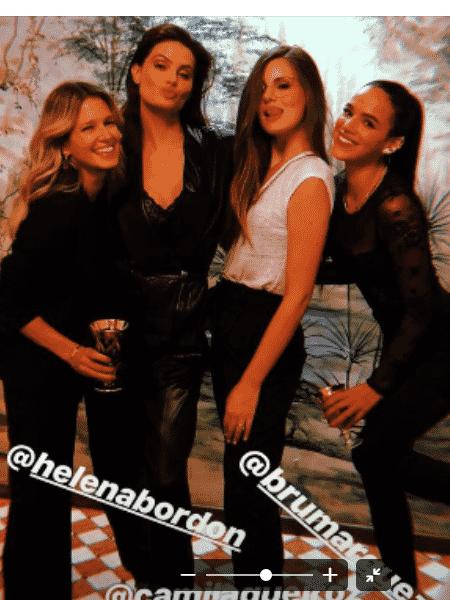 Helena Bordon, Isabeli Fontana, Camila Queiroz e Bruna Marquezine - Reprodução/Instagram