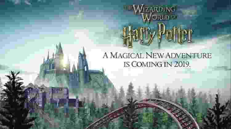 Imagem promocional da nova montanha-russa do Mundo Mágico de Harry Potter - Divulgação/Universal Orlando Resort - Divulgação/Universal Orlando Resort