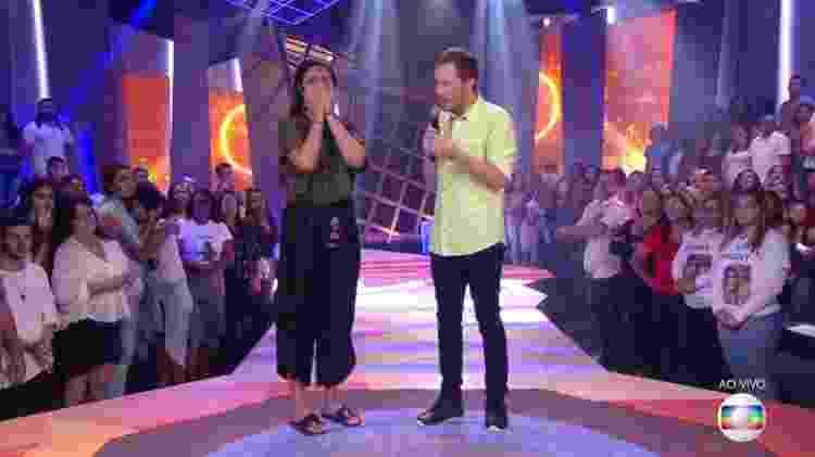 Hana e Leifert - Reprodução/TvGlobo - Reprodução/TvGlobo