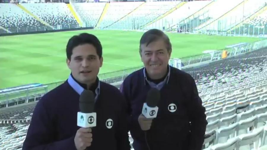 Kaio Cézar e PC Norões cobriram juntos a Copa América de 2015, no Chile - Reprodução/TV Verdes Mares