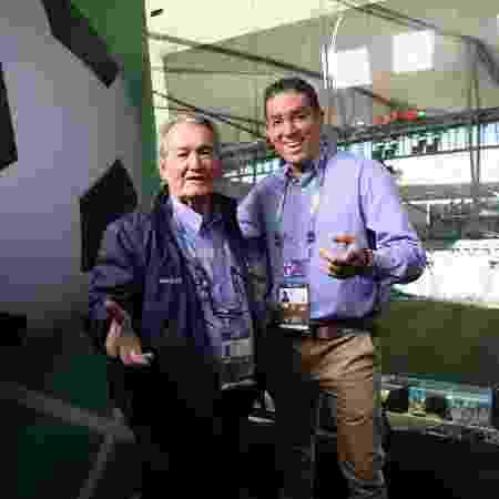 Leo Batista e Marcelo Adnet na final do Maracanã - João Miguel Júnior/TV Globo