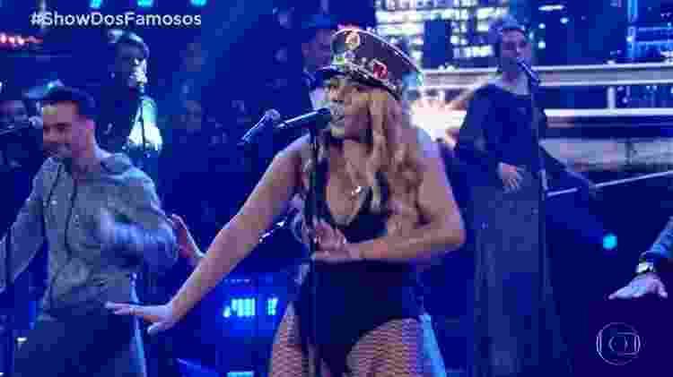 Ludmilla faz homenagem à Beyoncé no Show dos Famosos - Reprodução/Globo - Reprodução/Globo