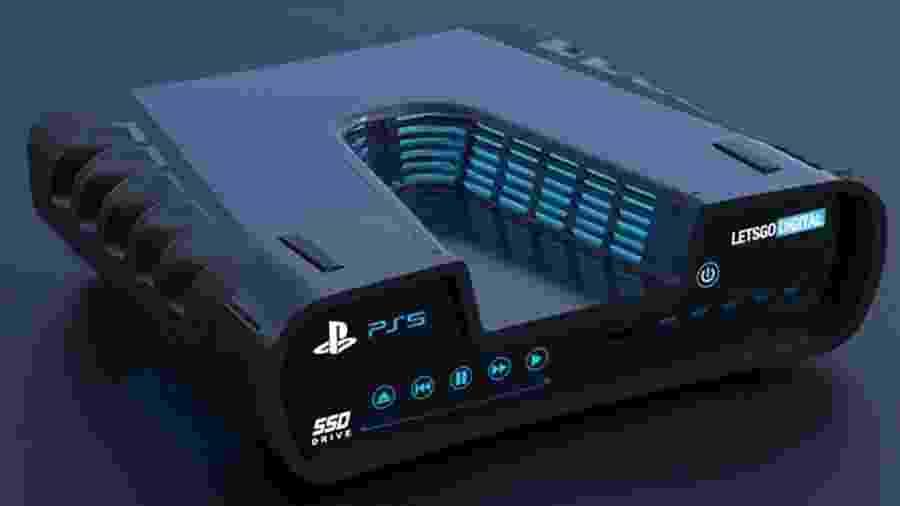Representação do devkit do PS5 criada por LetsGoDigital - LetsGoDigital