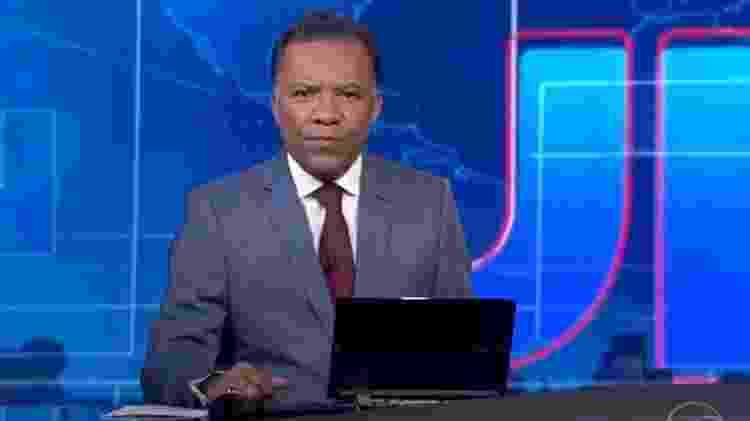 Heraldo Pereira no 'Jornal Nacional' - Reprodução/Globo - Reprodução/Globo