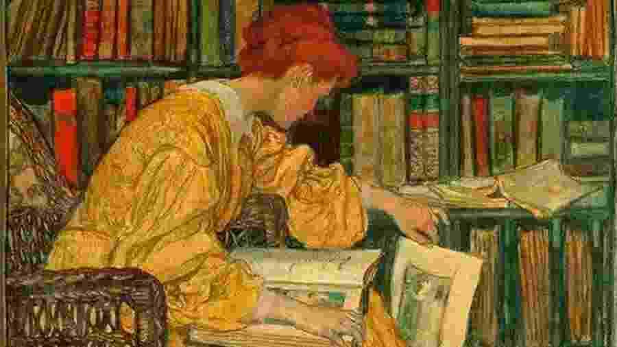 A Biblioteca - Elizabeth Shippen Green