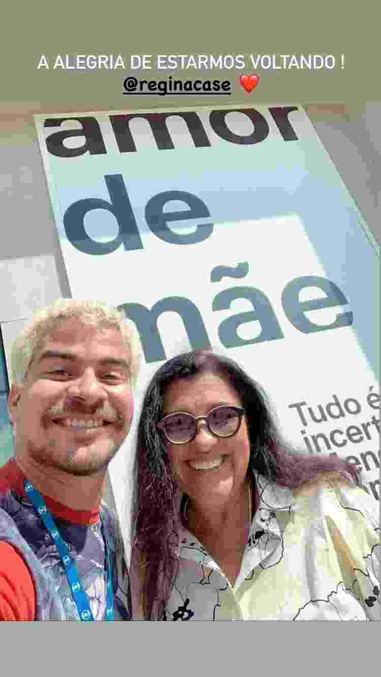 Thiago Martins e Regina Casé - Divulgação/Instagram - Divulgação/Instagram