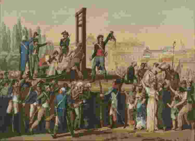 Ilustração da execução de Maria Antonieta - Reprodução - Reprodução