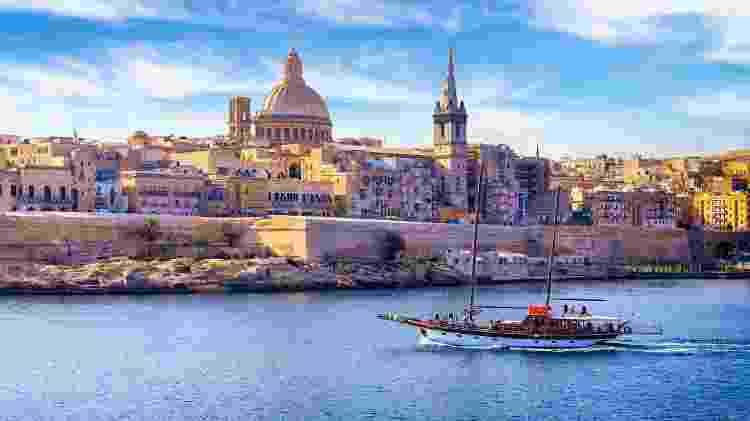 Catedral de São Paulo, em Valeta, capital de Malta - Ewg3D/Getty Images - Ewg3D/Getty Images