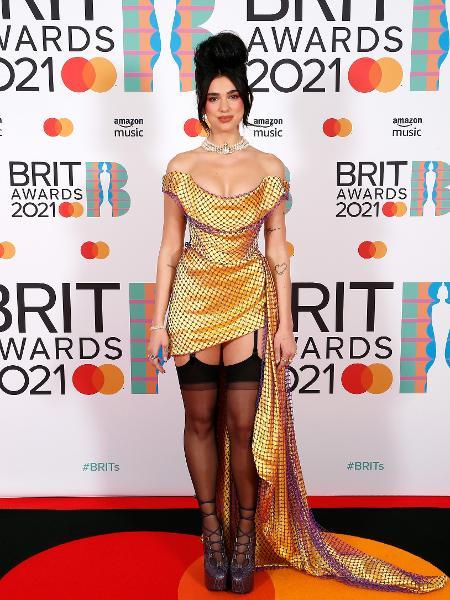 Dua Lipa no BRIT Awards 2021 - Getty Images