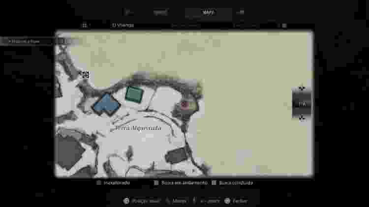 Resident Evil Village Mapa Cabra 3 - Reprodução/Capcom - Reprodução/Capcom