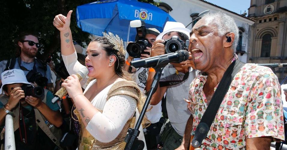 É a primeira vez que Gilberto Gil participa do Carnaval de rua