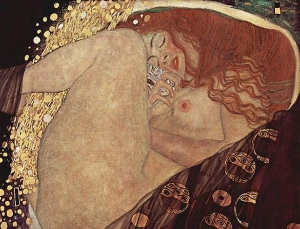 """O artista austríaco Gustav Klimt foi um dos mestres em retratar o prazer, como se pode ver na obra """"Danae"""" - Creative Commons/Reprodução"""
