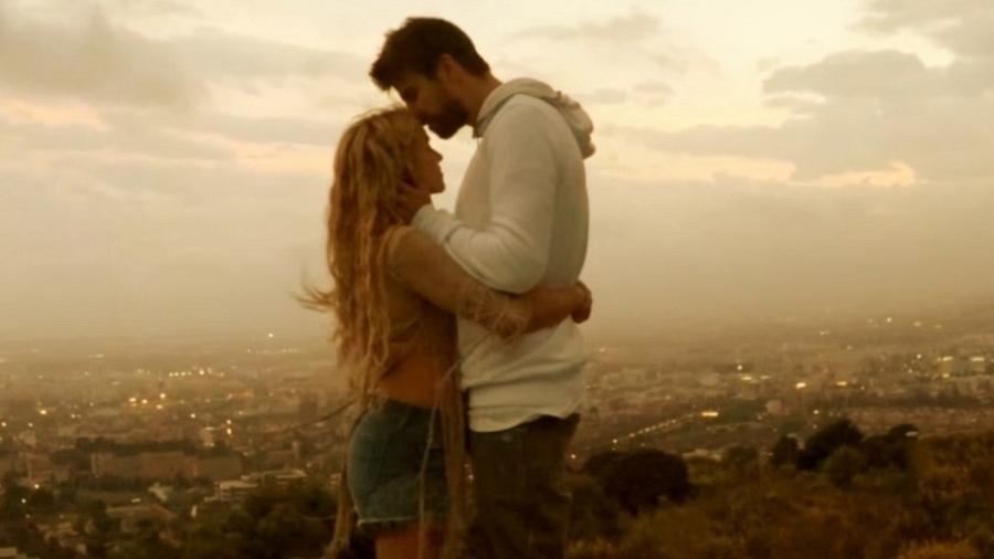 Shakira e o jogador Gerard Piqué - Reprodução