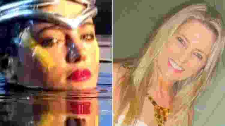 """Diana Szortyka em 1987, na abertura do """"Fantástico"""", e atualmente - Montagem/Reprodução/TV Globo/Arquivo pessoal/Diana Szortyka - Montagem/Reprodução/TV Globo/Arquivo pessoal/Diana Szortyka"""