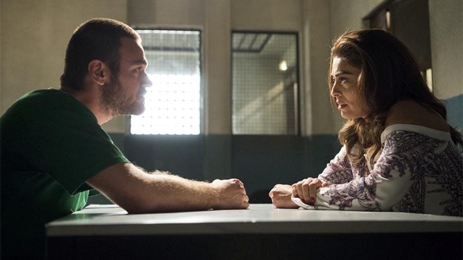 Bibi visita Rubinho na prisão - Estevam Avellar/Globo