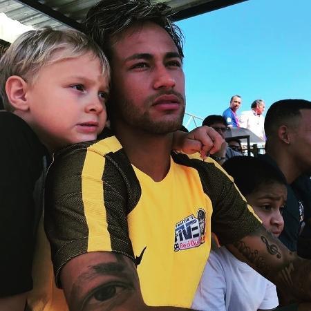 Neymar com o filho, Davi Lucca - Reprodução/Instagram