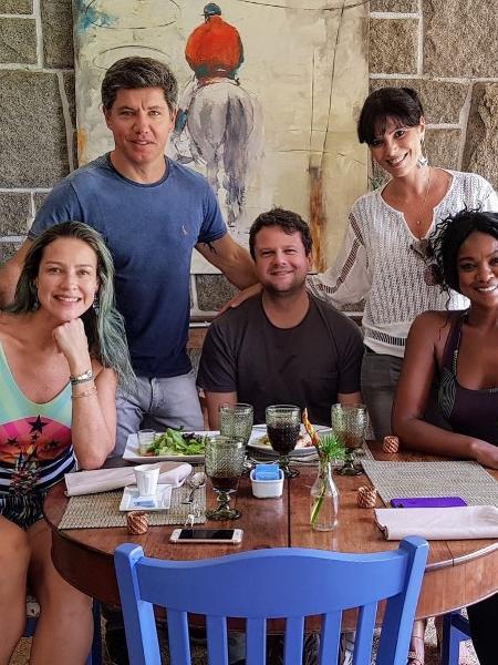Luana Piovani, Selton Mello e Cris Vianna se encontram em spa no Rio - Reprodução/Instagram