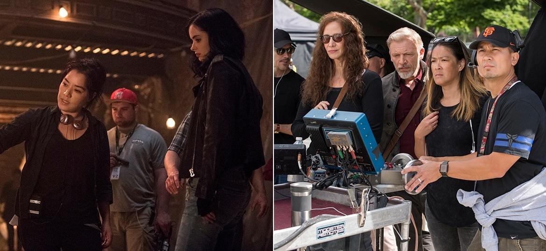 """Deborah Chow e Jet Wilkinson (à direita) estão no time das diretoras da segunda temporada de """"Jessica Jones"""" - Divulgação/Netflix"""