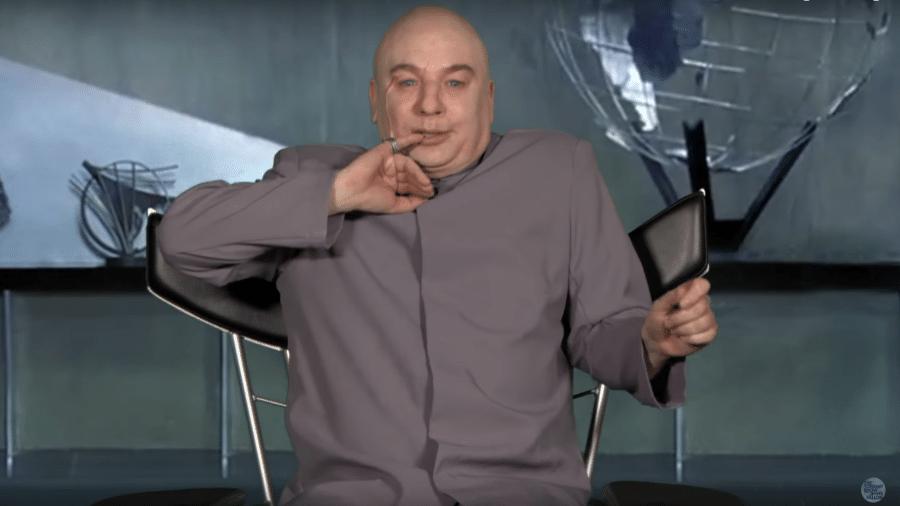 Dr. Evil no programa de Jimmy Fallon - Reprodução/Youtube