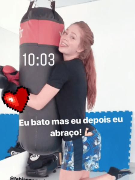 Marina Ruy Barbosa brinca durante aula de boxe - Reprodução/Instagram