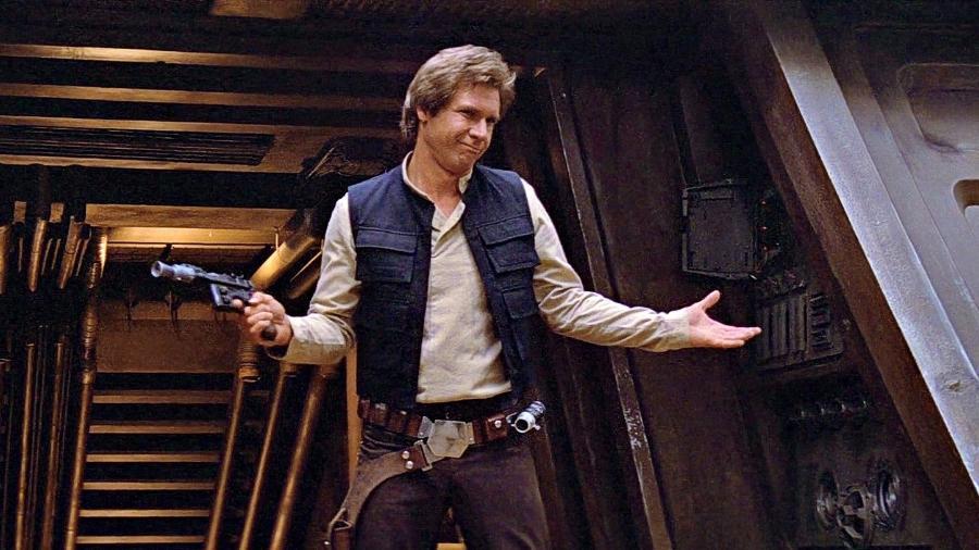 """Harrison Ford em """"O Retorno de Jedi"""" (1983) - Reprodução"""