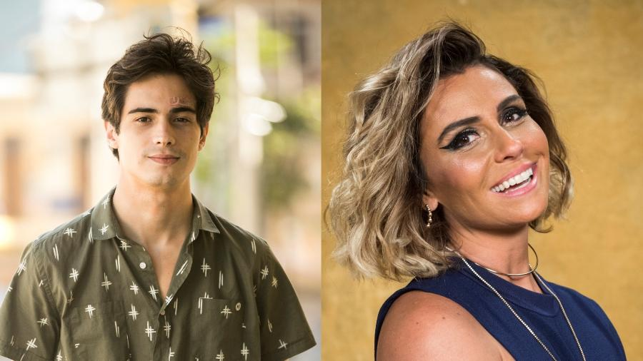 """Danilo Mesquita e Giovanna Antonelli são mãe e filho em """"Segundo Sol"""" - Montagem UOL/Globo"""