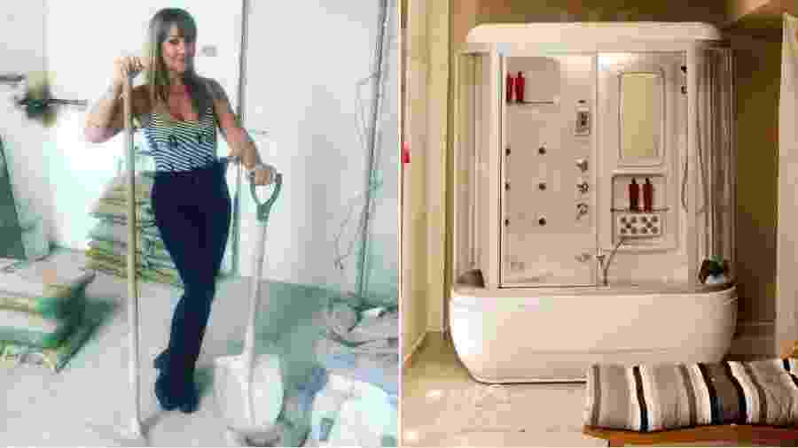 Vivi Fernandez e seu banheiro que lembra uma cápsula espacial - Arquivo pessoal