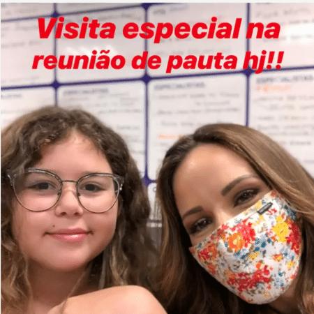 Ana Furtado ao lado da filha, Isabella - Reprodução/Instagram