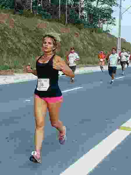 Maria Rita frente corrida - Arquivo pessoal - Arquivo pessoal