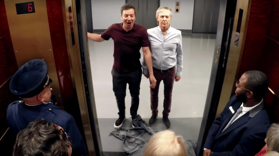 Jimmy Fallon e Paul McCartney fazem pegadinha - Reprodução/Youtube
