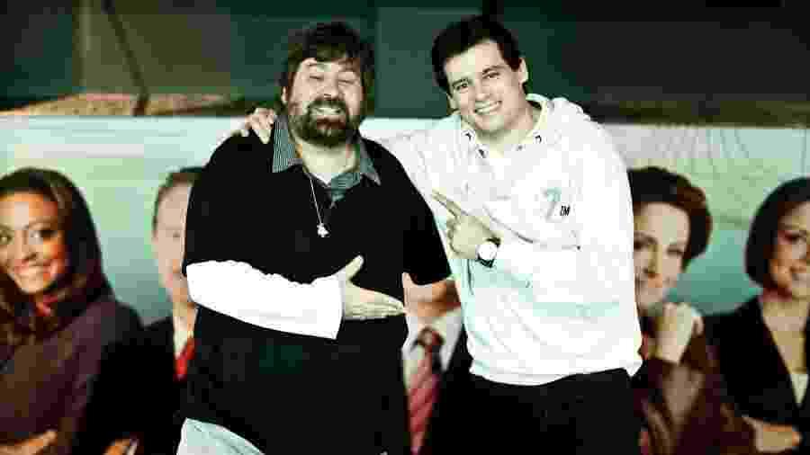 O diretor Roberto Manzoni e o apresentador Celso Portiolli, em 2011 - Roberto Setton/UOL