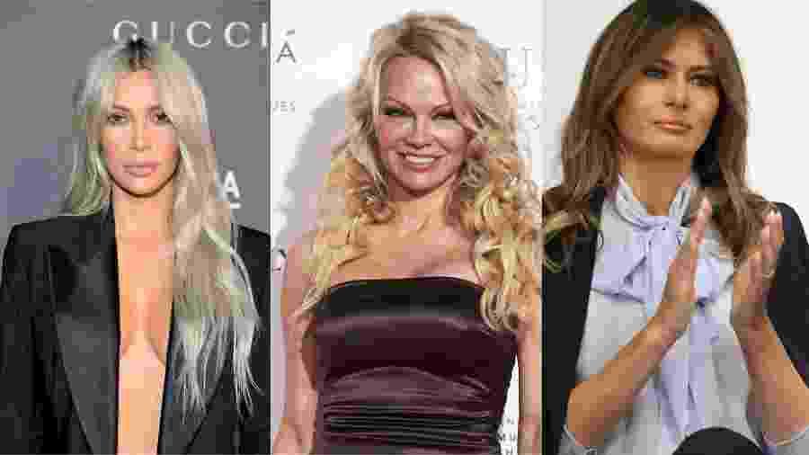 Kim Kardashian, Pamela Anderson e Melania Trump - Getty Images