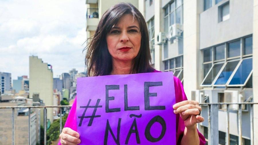 Silvia Ferraro, candidata ao Senado pelo PSOL-SP, mostra apoio à campanha #EleNão - Reprodução/Facebook/Silvia Ferraro 500