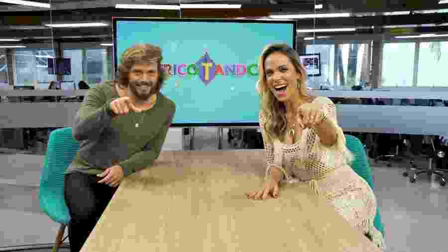 """Franklin David e Lígia Mendes, do """"Tricotando"""", da RedeTV! - Divulgação/RedeTV!"""