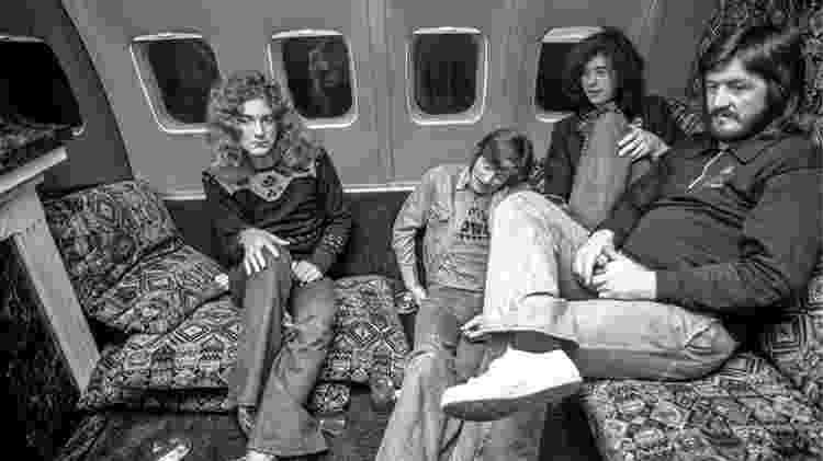 Os integrantes do Led Zeppelin em 1975 - Michael Brennan - Michael Brennan